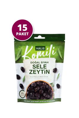 Komili - Komili Doğal Siyah Sele Zeytin 15x170g