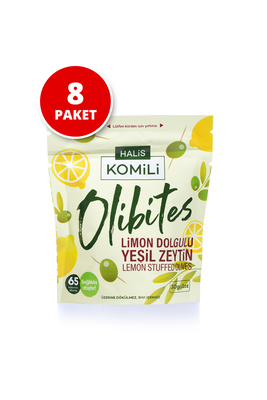 Komili Olibites - Komili Olibites Limon Dolgulu Yeşil Zeytin 8x30g